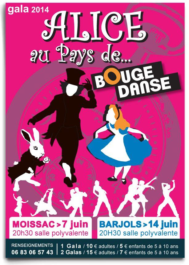 affiche association gala de danse